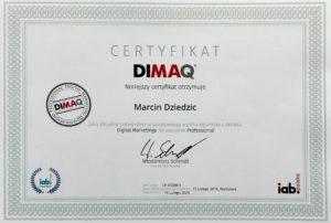 certyfikat dimaq marcin dziedzic